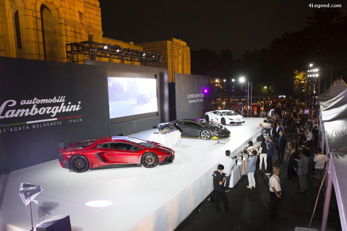 Lamborghini Day 2016 à Tokyo - Commémorations Lamborghini au Japon