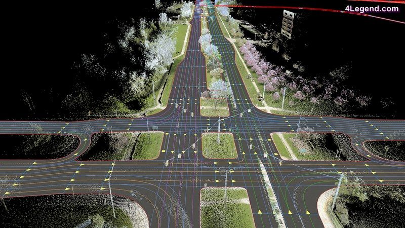In the picture: A HERE high-definition map image of a motorway in Michigan. Source: HERE