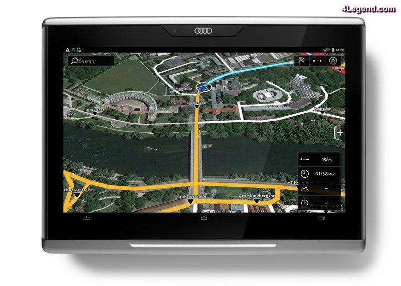 Audi tablet - google navigation