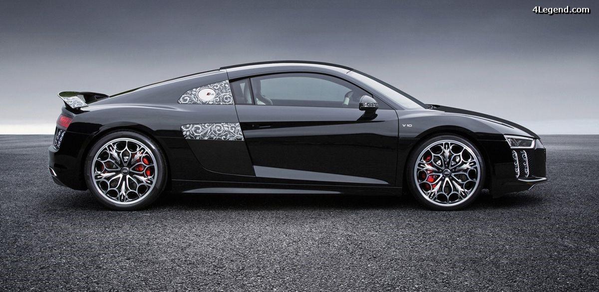 Exposition de l'Audi R8 aux couleurs de FINAL FANTASY au Mondial de l'Automobile 2016