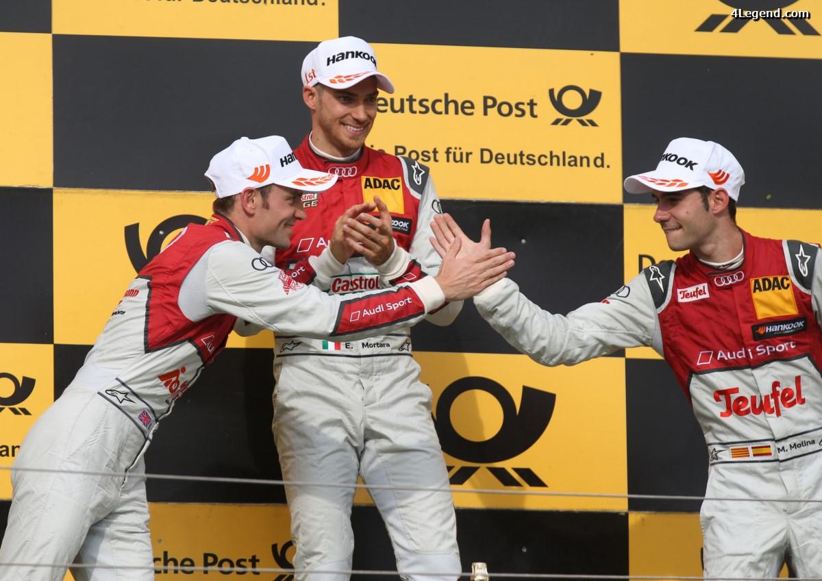 DTM - Triplé d'Audi et victoire de Edoardo Mortara à Budapest le samedi