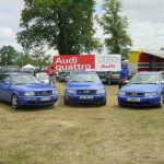 Le rêve bleu – Rencontre entre 3 légendes : Audi RS 2, RS 4 et S6 Plus bleus aux 24 Heures du Mans