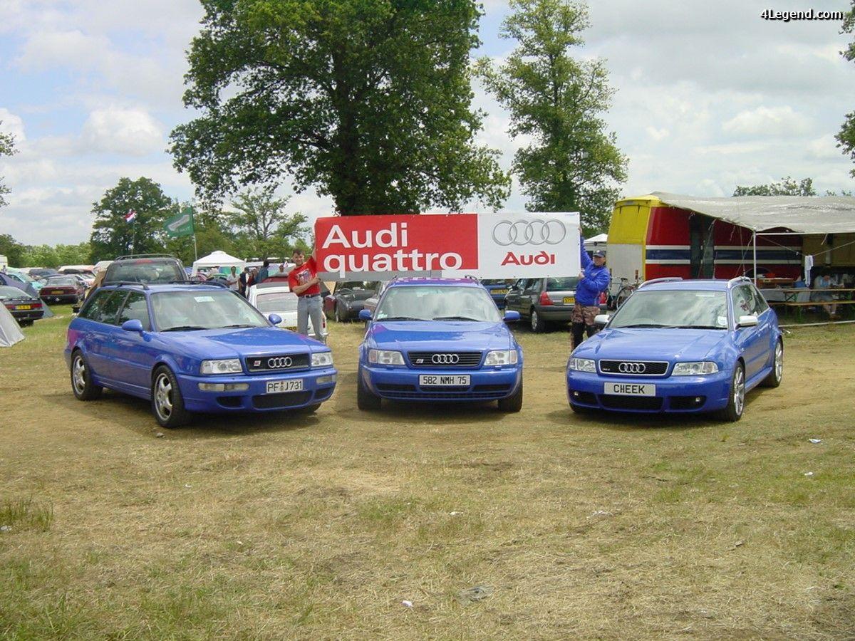 Le rêve bleu - Rencontre entre 3 légendes : Audi RS 2, RS 4 et S6 Plus bleus aux 24 Heures du Mans