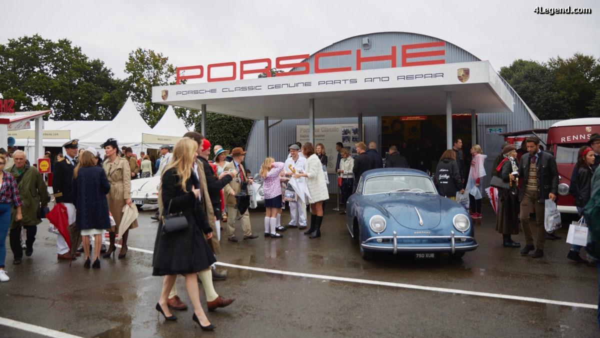 Goodwood Revival 2016 - Porsche fait un retour dans les années 50 et 60 et présente sa nouvelle Panamera