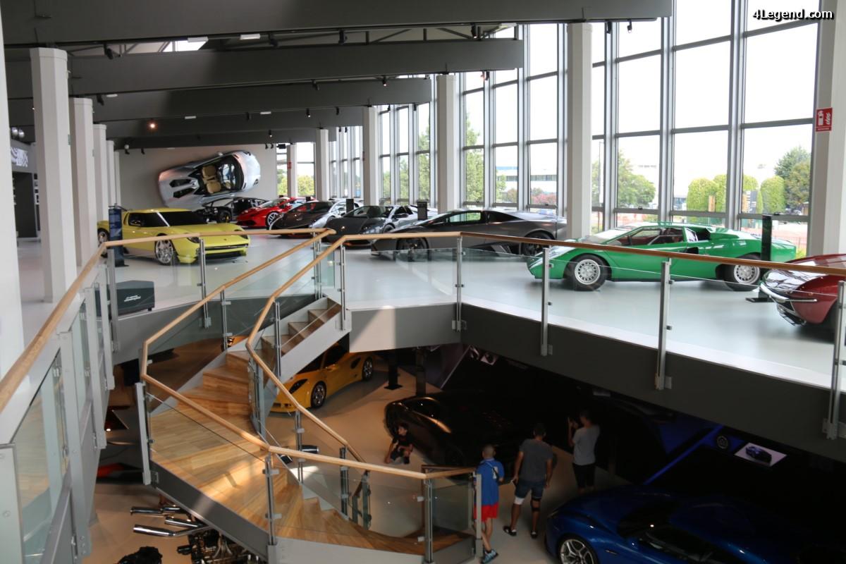 Visite du musée Lamborghini à Sant'Agata Bolognese - 1er étage - 2ème Partie