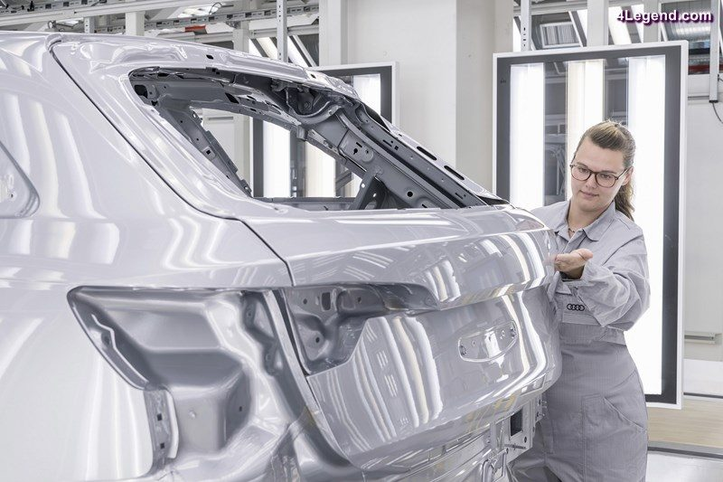 Finish – inspection of the painted car body by an employee's trained eye