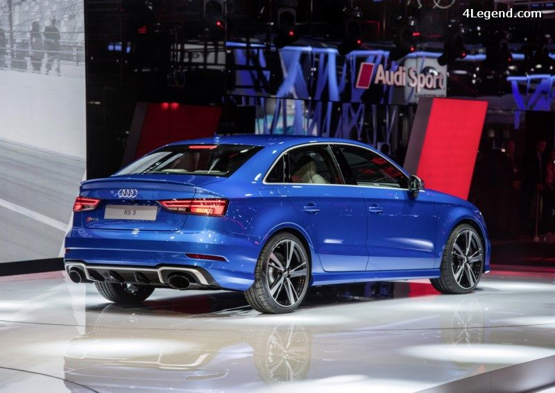 paris 2016 audi rs 3 berline la plus sportive des compactes avec 400 ch. Black Bedroom Furniture Sets. Home Design Ideas