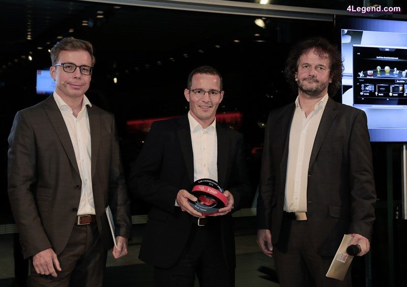 """Marcus Keith, Head of Development of Operating and Display Systems of AUDI AG, at the award ceremony """"Car Connectivity Award 2016""""."""
