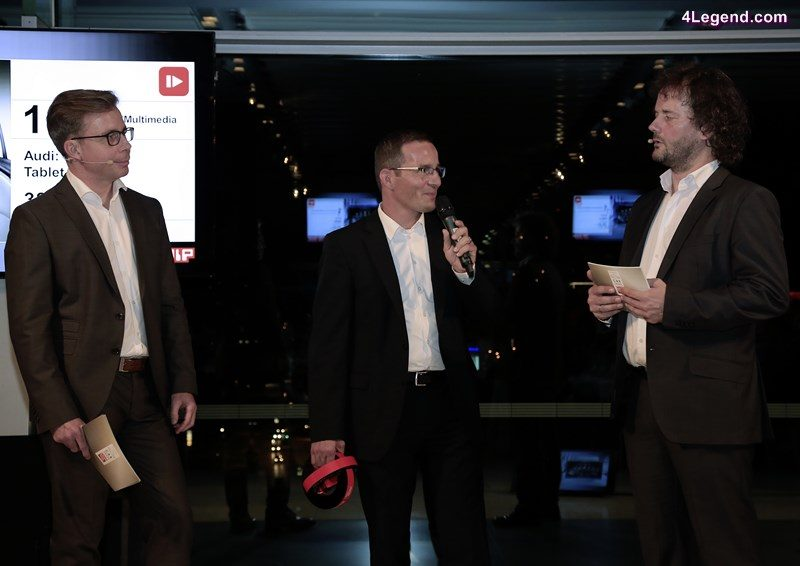 """Markus Keith, Head of Development of Operating and Display Systems of AUDI AG, at the award ceremony """"Car Connectivity Award 2016""""."""