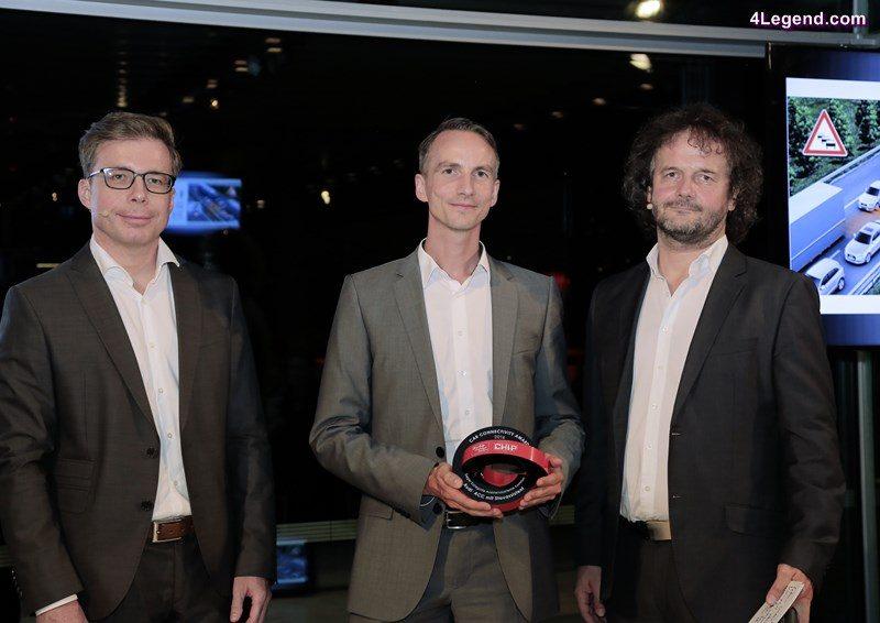 "Mirko Reuter, Head of Advanced Vehicle Concepts of AUDI AG, at the award ceremony ""Car Connectivity Award 2016""."