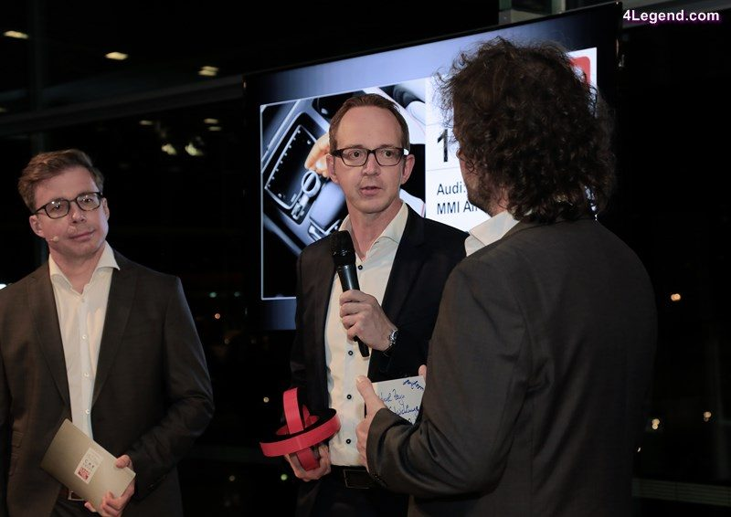 """Michael Zeyn, Head of Development Operating Concepts of AUDI AG, at the award ceremony """"Car Connectivity Award 2016""""."""