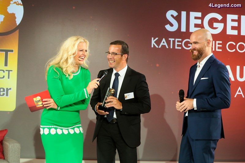 """Markus Keith, Head of Development of Operating and Display Systems of AUDI AG, at the award ceremony """"Golden Computer 2016""""."""