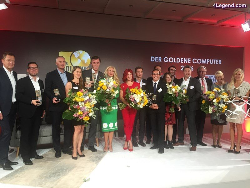 """Group picture of the winners of the """"Golden Computer 2016"""": Markus Keith, Head of Development of Operating and Display Systems of AUDI AG (9th from left)"""