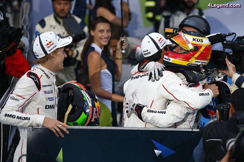Porsche Team: Brendon Hartley, Mark Webber, Timo Bernhard (l-r)
