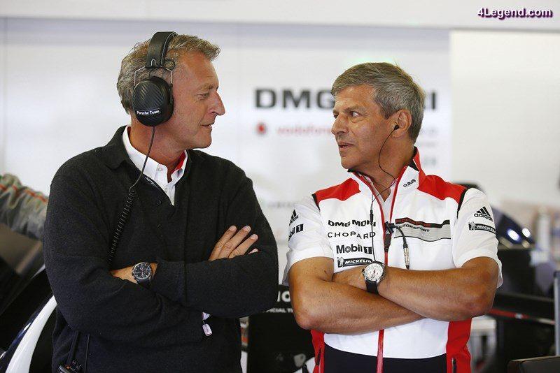Detlev von Platen, Vorstand Vertrieb und Marketing Porsche AG, Fritz Enzinger, Leiter LMP1 (l-r)