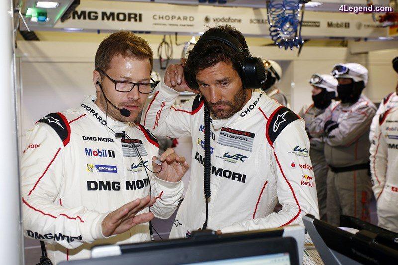 Andreas Seidl, Teamchef Porsche Team, Mark Webber (l-r)
