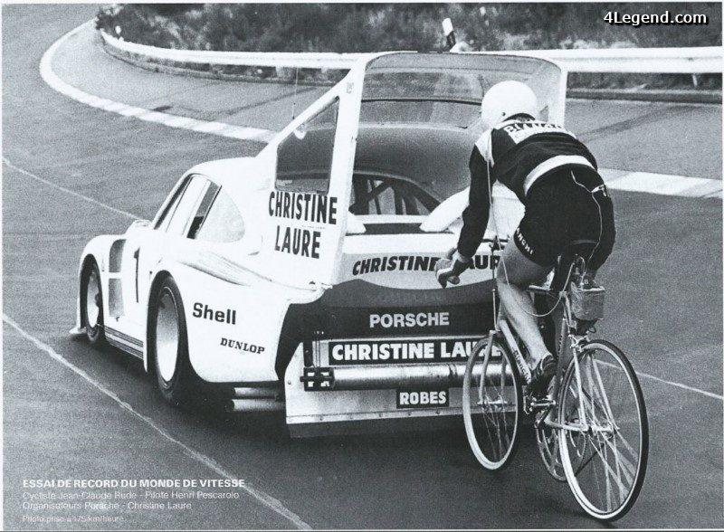 une porsche 935 modifi e pour un record du monde de vitesse en v lo en 1978. Black Bedroom Furniture Sets. Home Design Ideas
