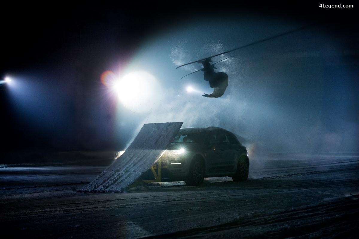 Dunlop Winter Sport 5 SUV - Dunlop transforme un Porsche Macan Turbo en rampe de saut à ski