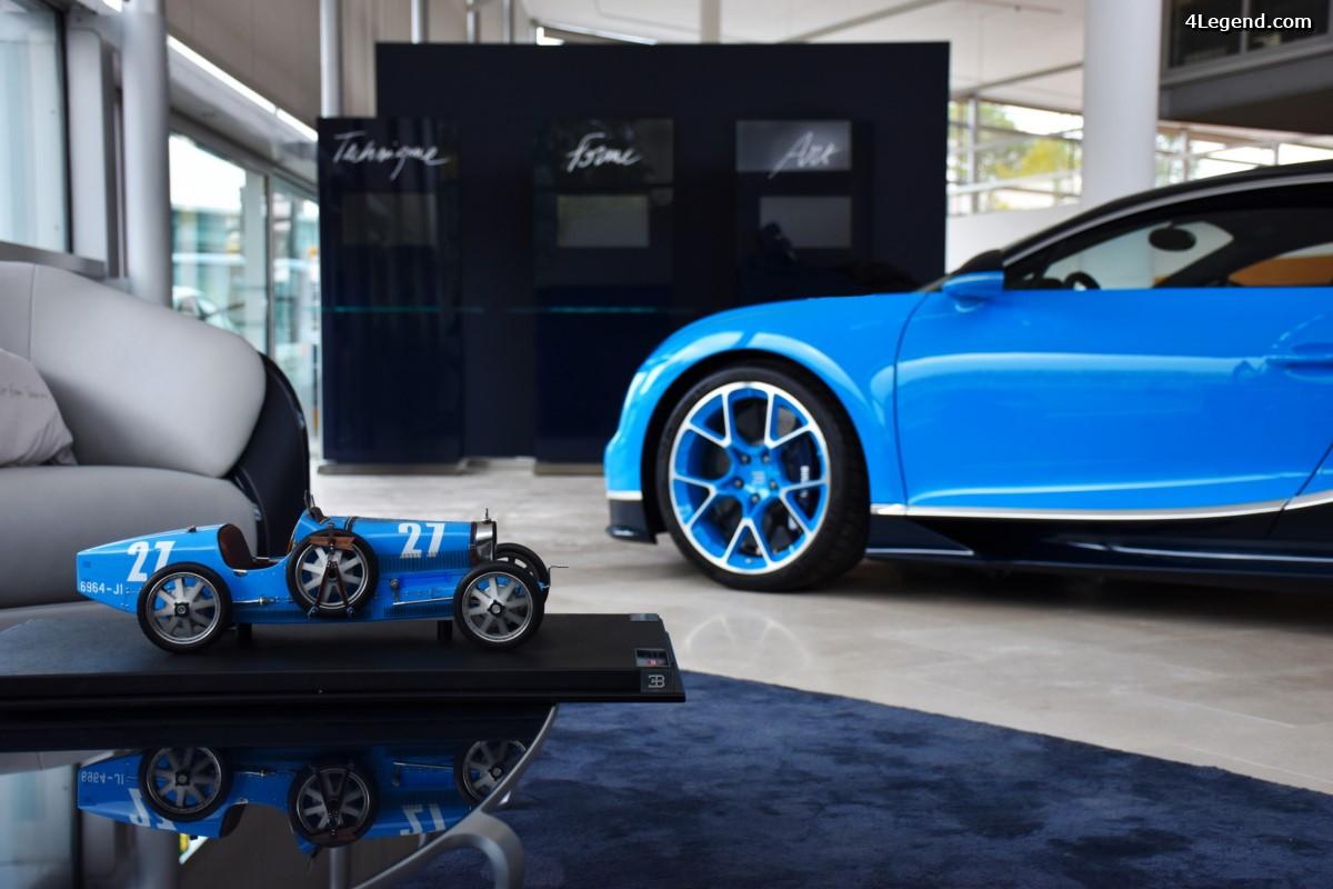 Bugatti ouvre un nouveau showroom à Zurich avec le nouveau design de la marque