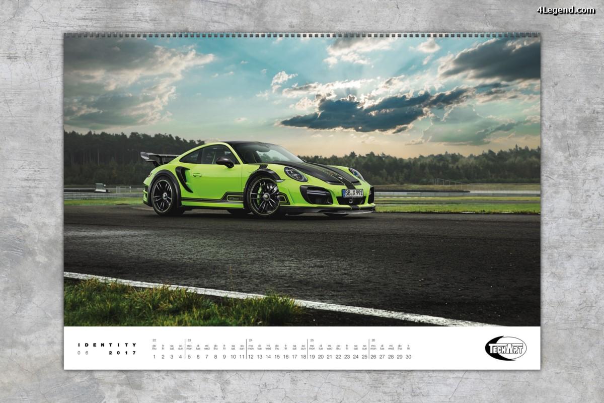Le préparateur Porsche - TECHART - dévoile son calendrier 2017 : IDENTITY