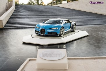 Exposition de la Bugatti Chiron à la Fondation Louis Vuitton