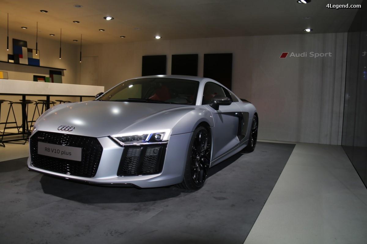 Paris 2016 - Audi R8 V10 plus Coupé dans le salon Audi exclusive / Audi Sport