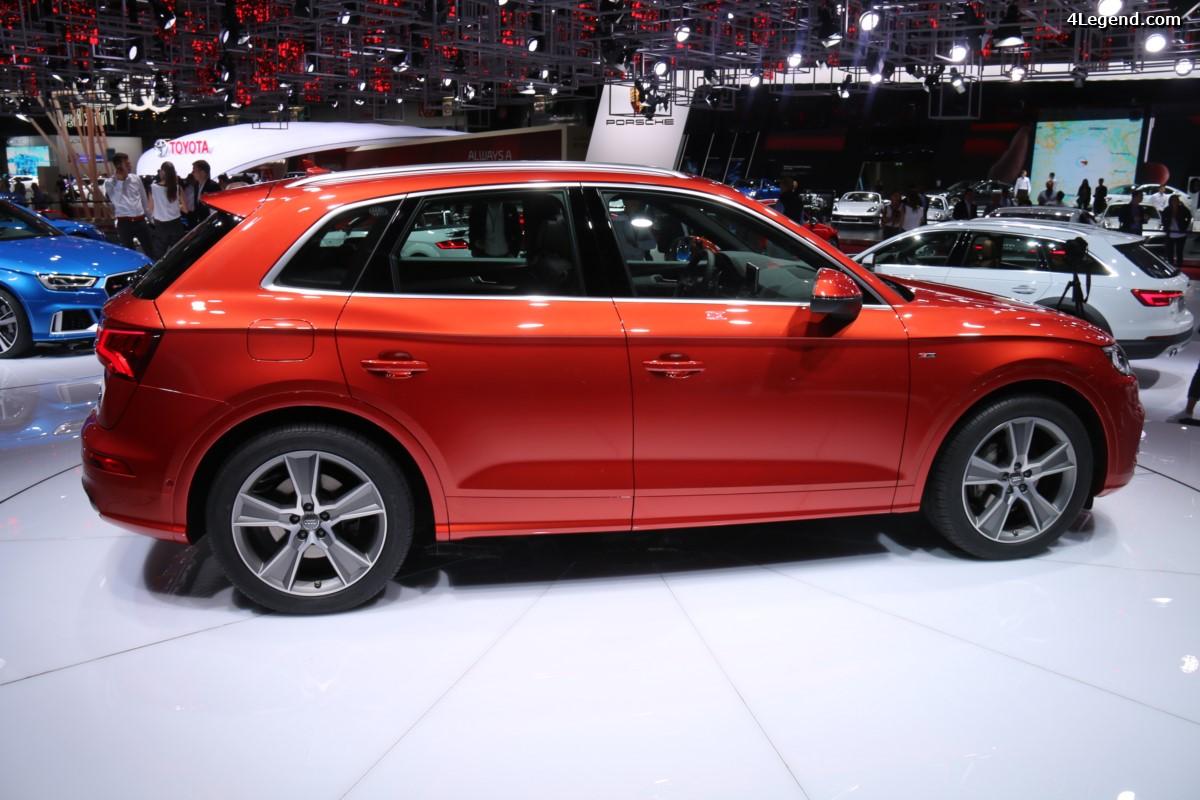 Paris 2016 - Détails des trois Audi Q5 exposées sur le stand Audi