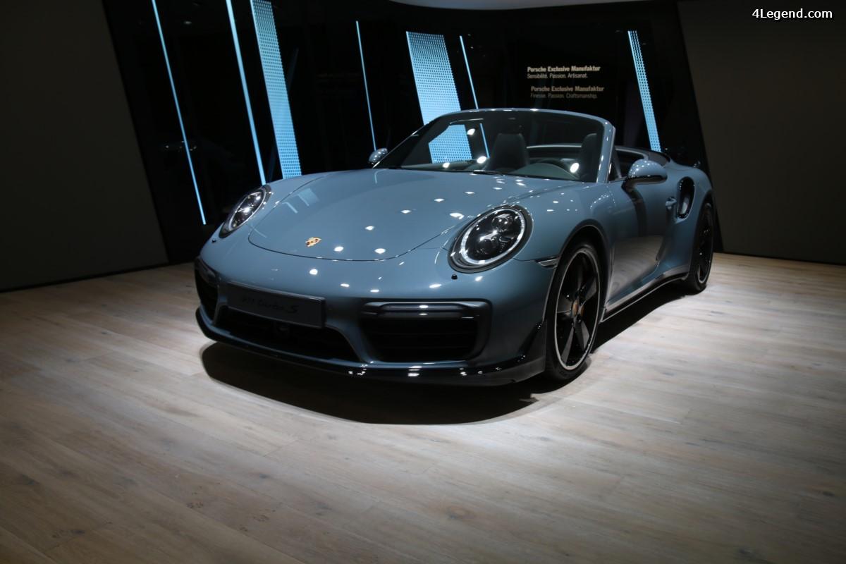 Paris 2016 - Porsche 911 Turbo S Cabriolet by Porsche Exclusive Manufaktur