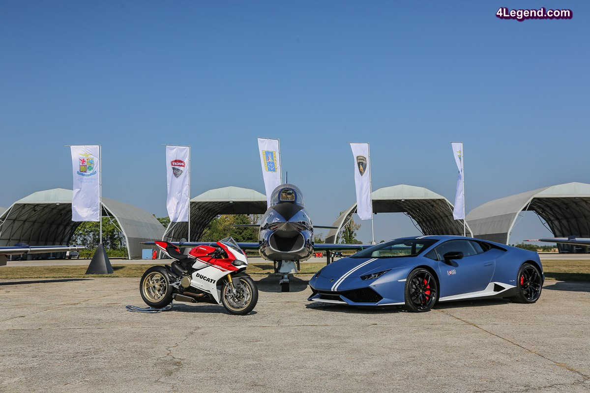 Passioni Tricolori - Lamborghini a fêté le drapeau italien avec Ducati sur la base aérienne d'Udine