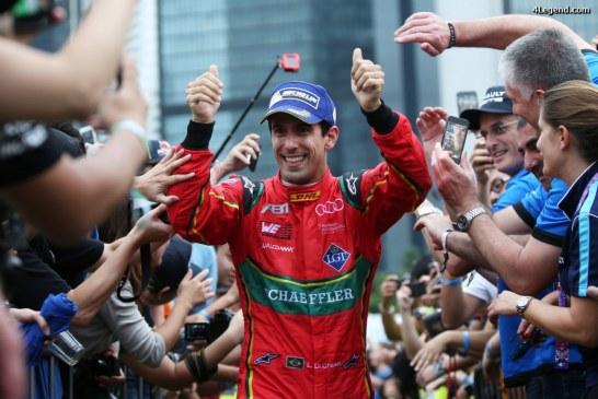 Podium ABT Schaeffler Audi Sport à la course de Formula E à Hong Kong