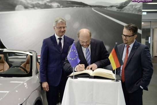 Le président du Parlement européen a testé la conduite autonome d'Audi