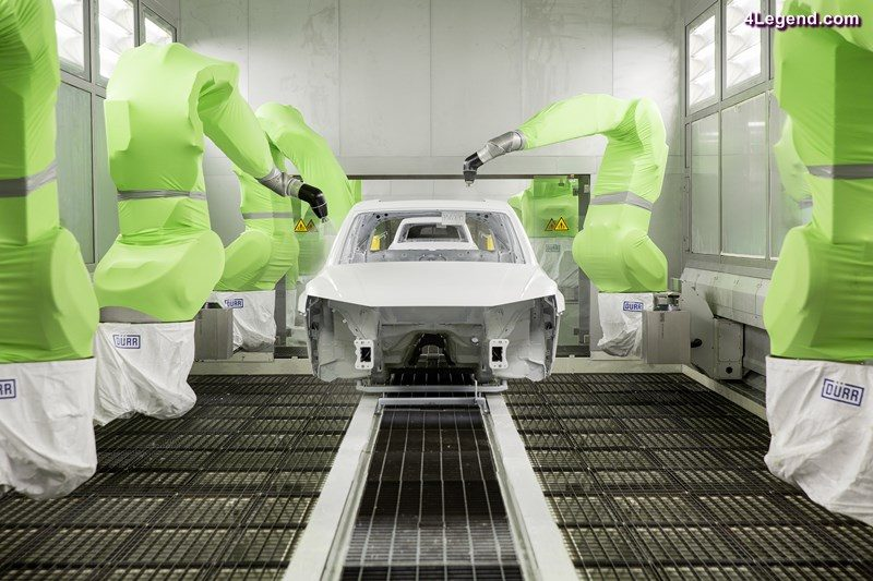 The paint shop in the Audi plant in San José Chiapa is one of the most environmentally friendly in the world.