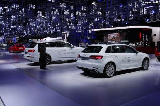 Paris 2016 – Audi A3 Sportback e-tron et Audi Q7 e-tron 3.0 TDI quattro