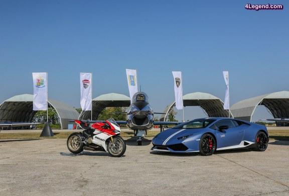 Passioni Tricolori – Lamborghini a fêté le drapeau italien avec Ducati sur la base aérienne d'Udine