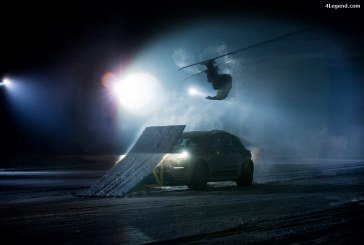 Dunlop Winter Sport 5 SUV – Dunlop transforme un Porsche Macan Turbo en rampe de saut à ski