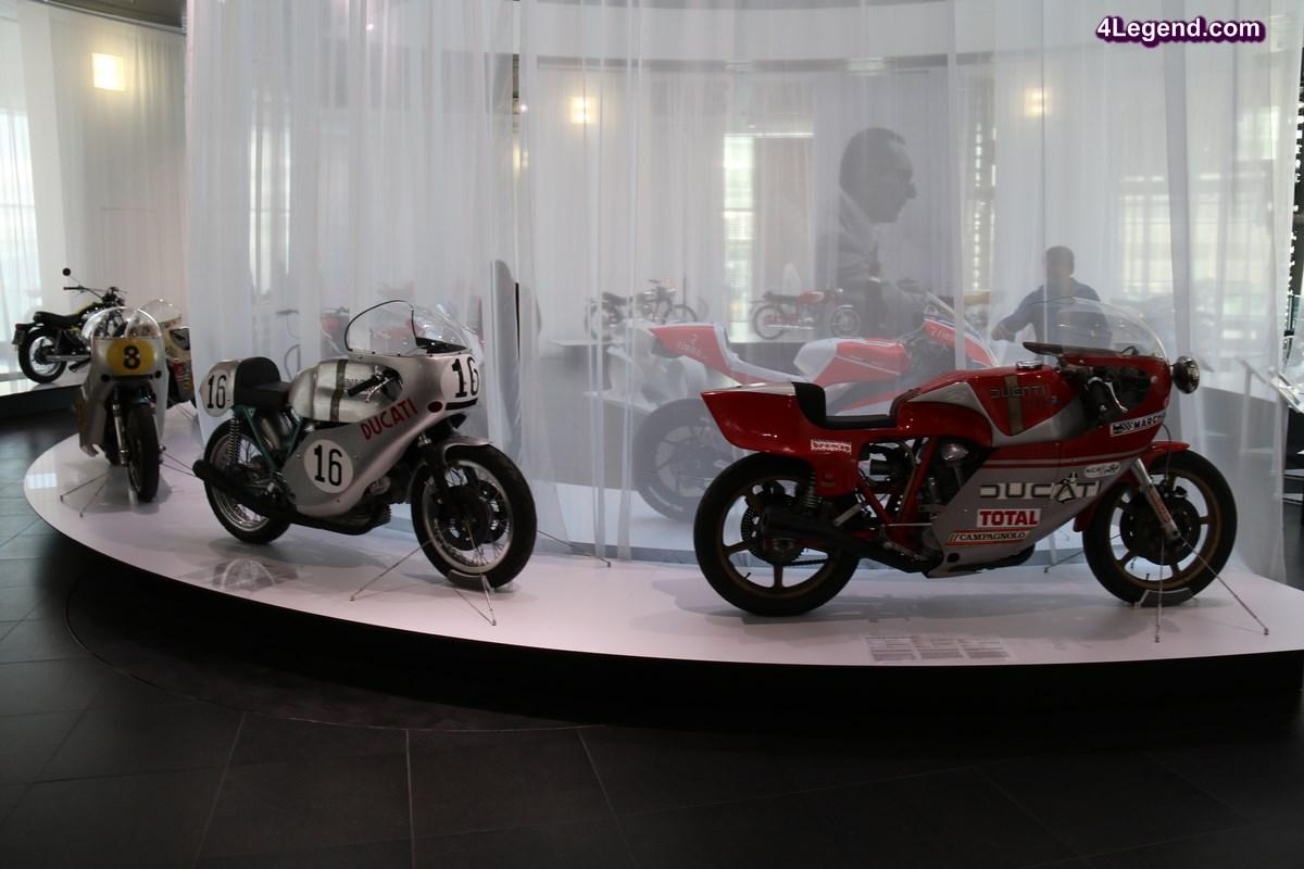 Exposition de motos Ducati à l'Audi museum mobile