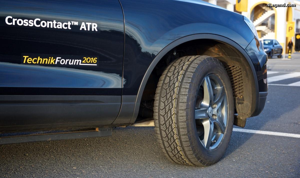 TechnikForum 2016 - Pneu Continental CrossContact ATR - Un pneu routier pour le tout terrain