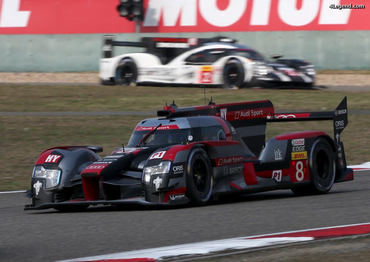 WEC - Avant-dernière course décevante pour Audi Motorsport à Shanghai - 5 & 6ème place
