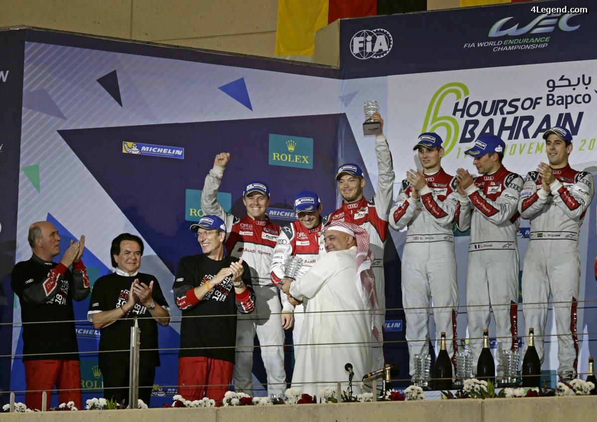 WEC - Un superbe doublé Audi pour son retrait de l'endurance aux 6 Heures de Bahreïn