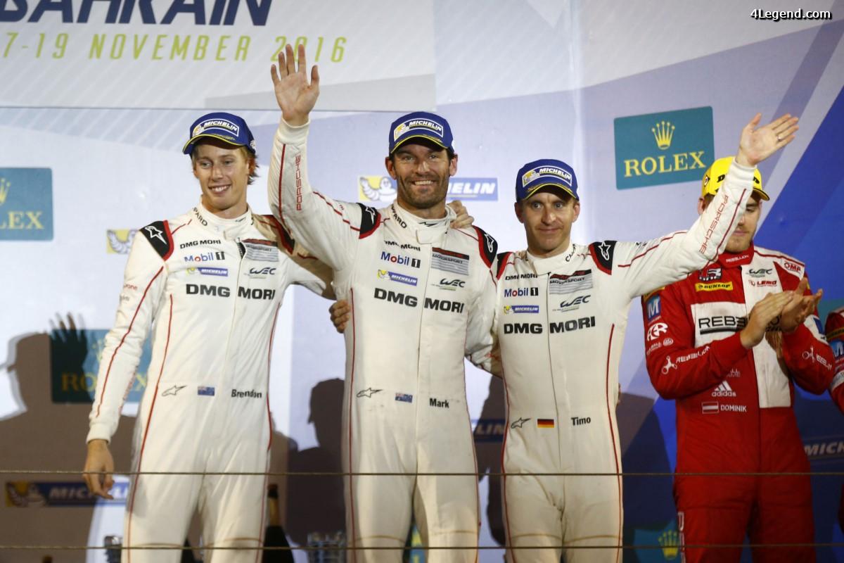 WEC - Podium et Titre constructeurs pour Porsche aux 6 Heures de Bahreïn 2016