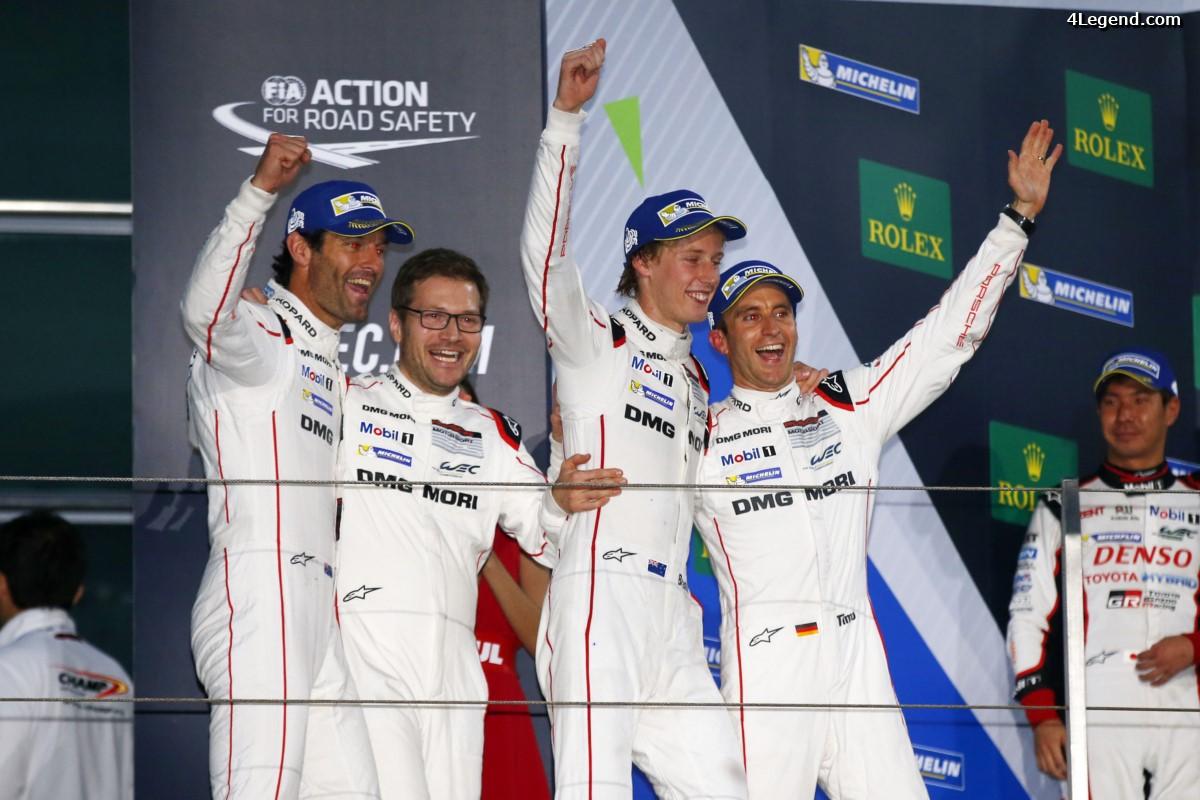 WEC - Porsche gagne le titre de champion du monde des constructeurs 2016 avec sa 919 Hybrid aux 6 Heures de Shanghai