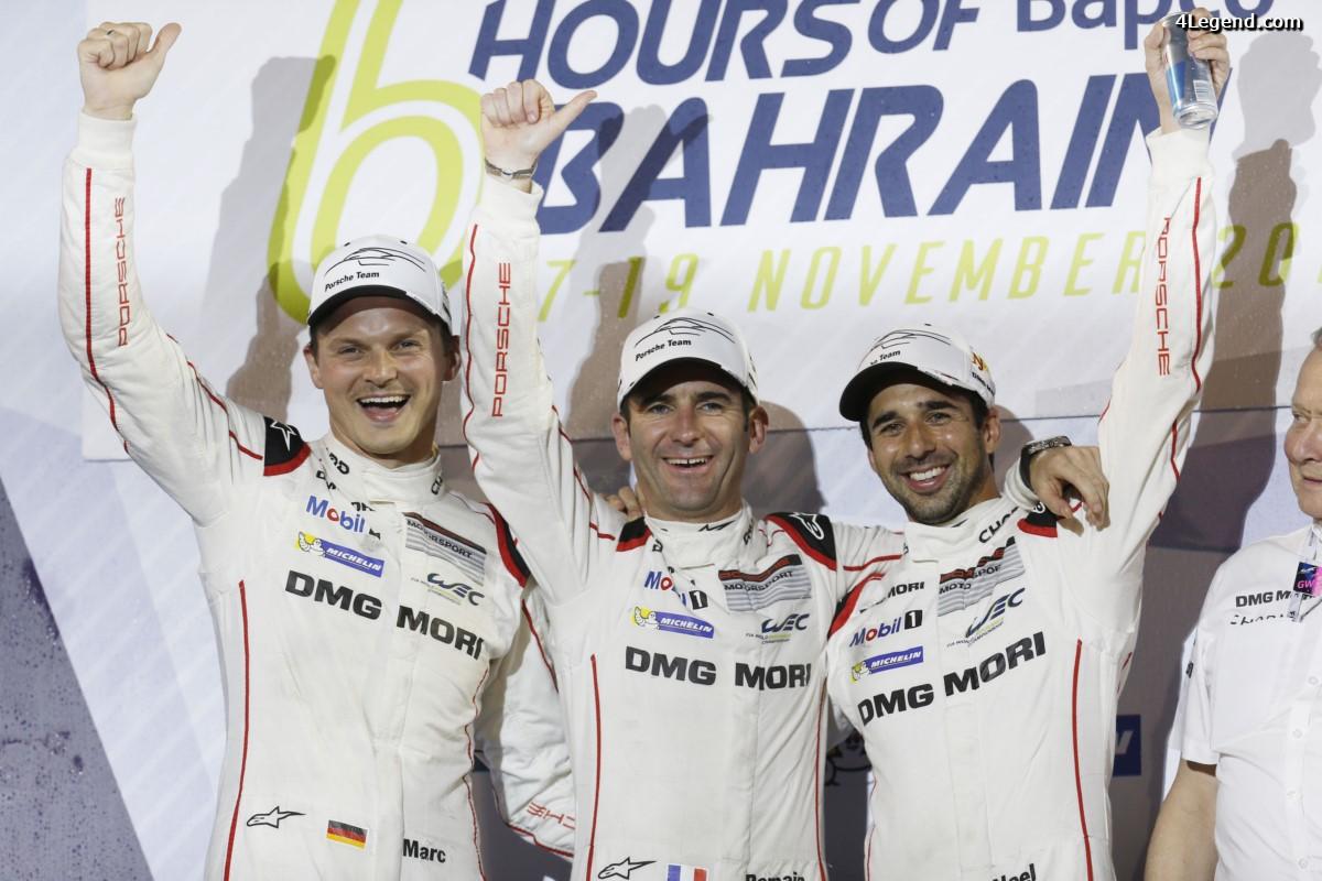 WEC - Les pilotes Porsche victorieux au Mans remportent le titre des pilotes du Championnat du Monde FIA 2016