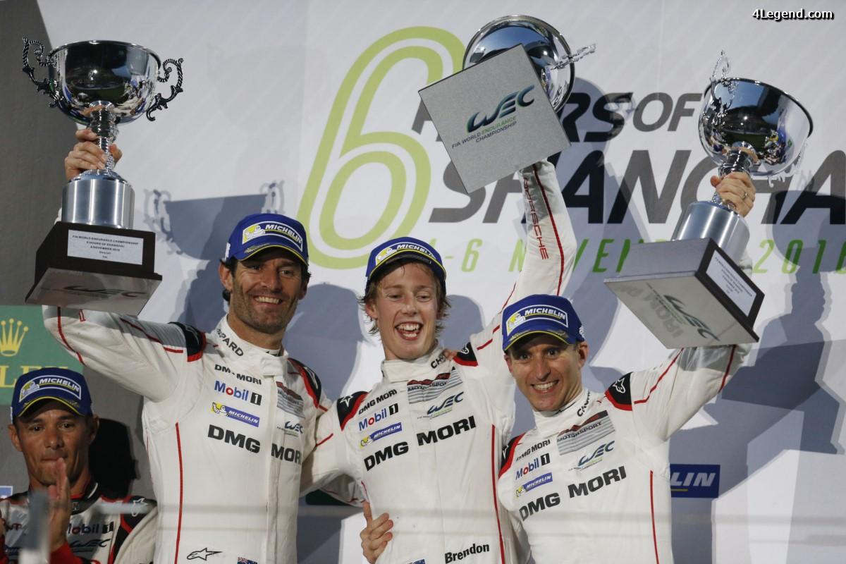 WEC - Nouvelle victoire de Porsche aux 6 Heures du Shanghai