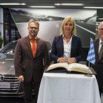 Visite chez Audi à Ingolstadt du Ministre de l'Environnement de Bavière
