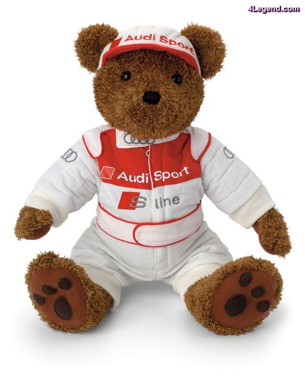 Audi subsidiary Quattro GmbH is also showing the motorsport teddy bear.