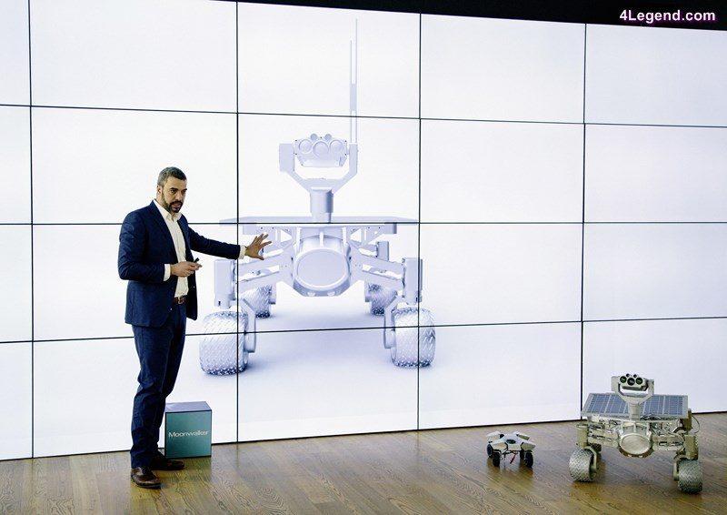 Jorge Diez, head of Audi Concept Design Munich, revises the rover.