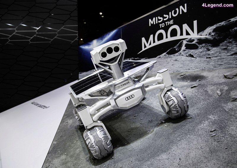The Audi lunar quattro at the 2016 North American Auto Show in Detroit.