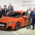 La millionième Audi produite à Győr est sortie des chaines de production – Audi TT RS Coupé