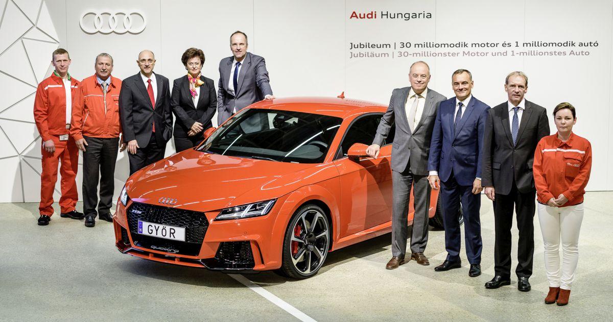 La millionième Audi produite à Győr est sortie des chaines de production - Audi TT RS Coupé