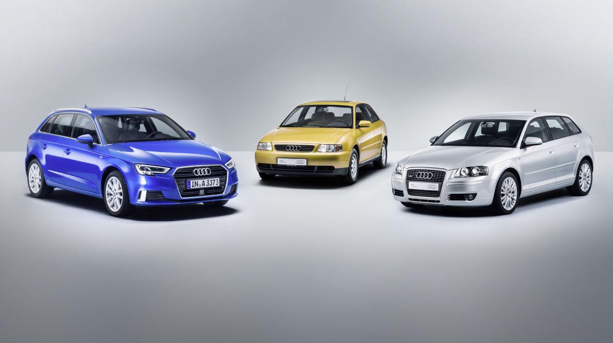 L'Audi A3 fête ses 20 ans - Une success story sur trois générations